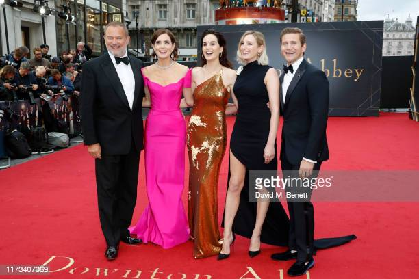 "Hugh Bonneville, Elizabeth McGovern, Michelle Dockery, Laura Carmichael and Allen Leech attend the World Premiere of ""Downton Abbey"" at Cineworld..."