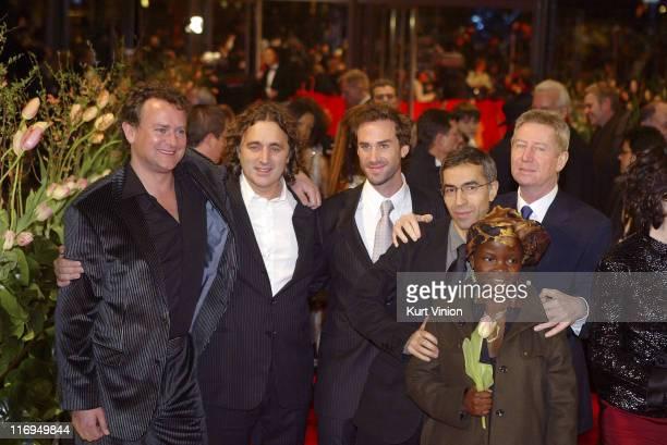 Hugh Bonneville Farid Lahouassa Joseph Fiennes Guest Regis Wargnier and Cecile Bayiha
