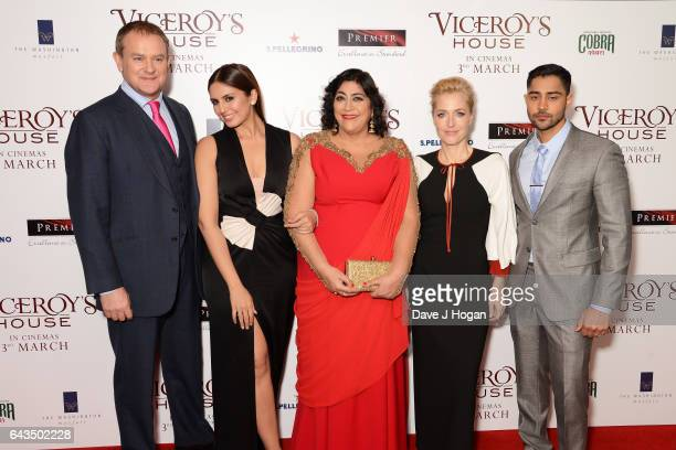 Hugh Bonneville Huma Qureshi Gurinder Chadha Gillian Anderson and Manish Dayal attend the UK premiere of 'Viceroys's House' at The Curzon Mayfair on...