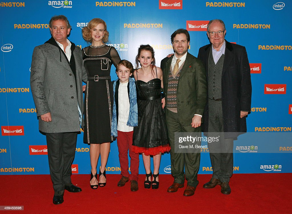 Hugh Bonneville, Nicole Kidman, Samuel Joslin, Madeleine Harris, director Paul King and Jim Broadbent attend the World Premiere of 'Paddington' at Odeon Leicester Square on November 23, 2014 in London, England.