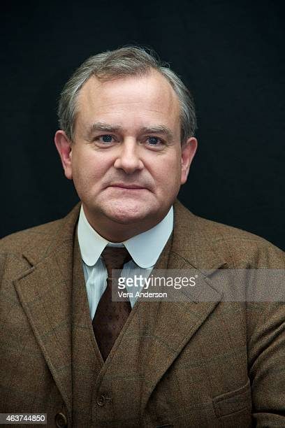 Hugh Bonneville on the Downton Abbey set at Highclere Castle on February 16 2015 in Newbury England