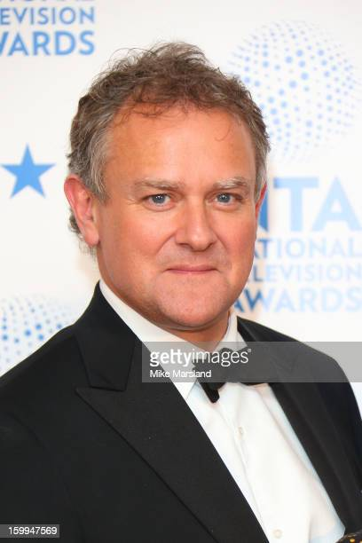 Hugh Bonneville poses in the winners room at the National Television Awards at 02 Arena on January 23 2013 in London England