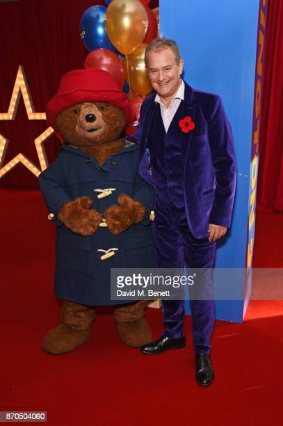 Hugh Bonneville poses with Paddington Bear at the World Premiere of 'Paddington 2' at Odeon Leicester Square on November 5 2017 in London England