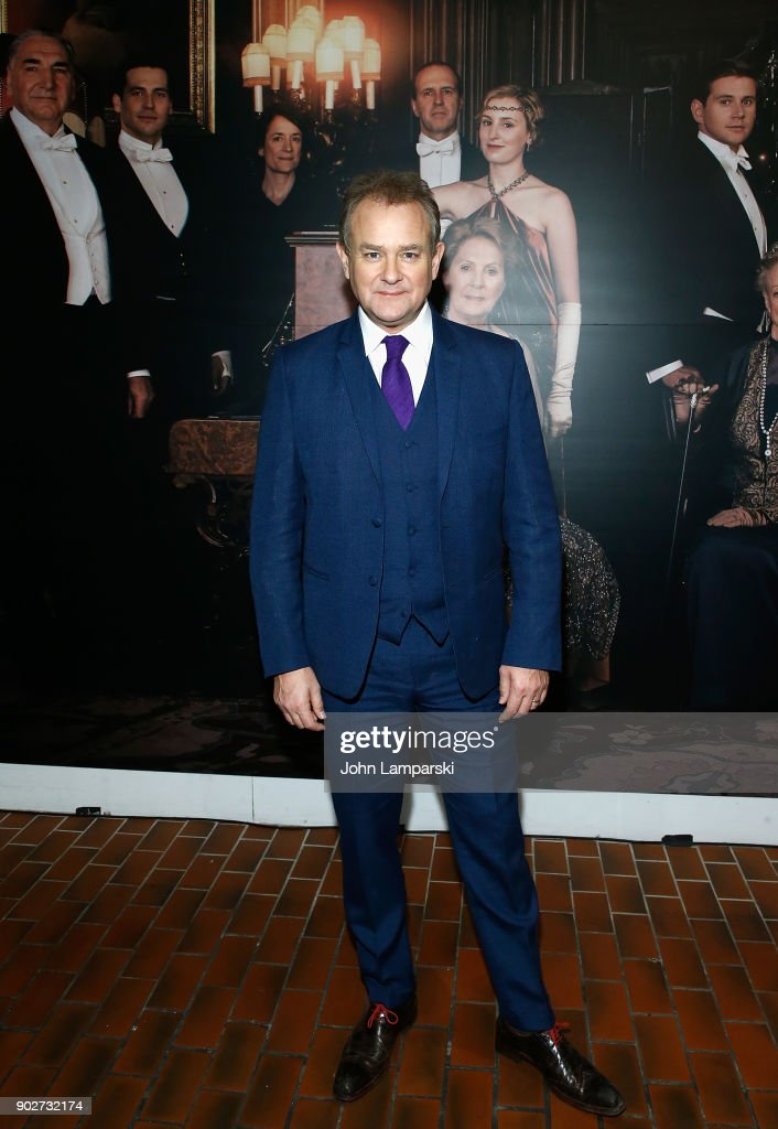 Hugh Bonneville visits 'Downton Abbey: The Exhibition' on January 8, 2018 in New York City.