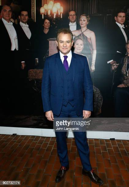 Hugh Bonneville visits 'Downton Abbey The Exhibition' on January 8 2018 in New York City