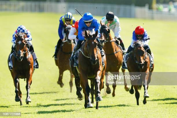 Hugh Bowman on Alizee wins race 6 the Christmas Classic during Sydney Racing at Royal Randwick Racecourse on December 29 2018 in Sydney Australia
