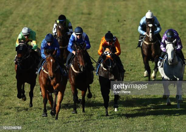 Hugh Bowman on Winx races during barrier trials at Rosehill Gardens on August 7 2018 in Sydney Australia