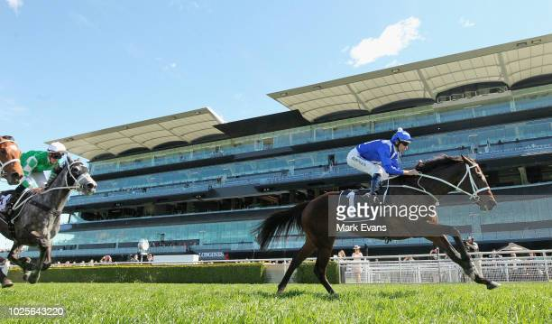 Hugh Bowman on Winx runs in a gallop during Chelmsford Stakes Day Sydney Racing at Royal Randwick Racecourse on September 1, 2018 in Sydney,...