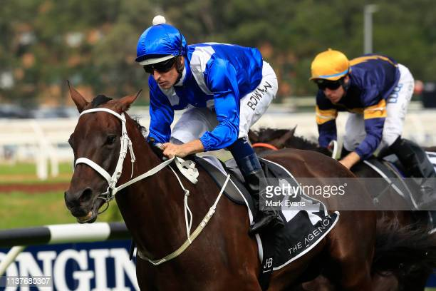 Hugh Bowman on Winx wins race 5 the Agency George Ryder Stakesduring Golden Slipper Day at Rosehill Gardens on March 23 2019 in Sydney Australia