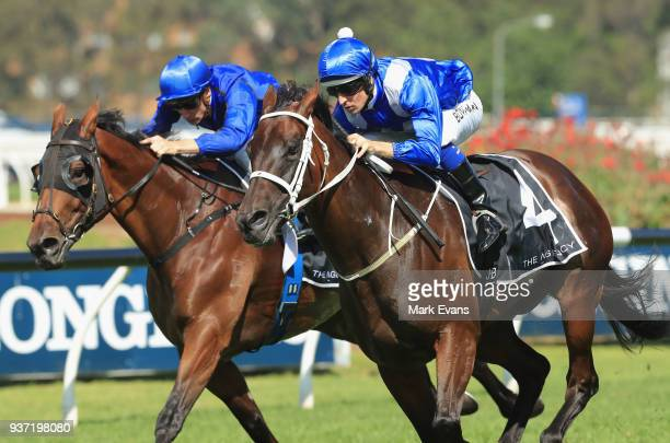 Hugh Bowman on Winx wins race 5 The George Ryder Stakes during Golden Slipper Day at Rosehill Gardens on March 24 2018 in Sydney Australia