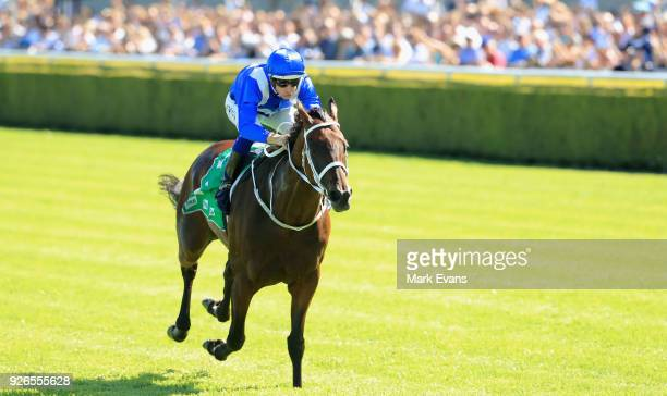 Hugh Bowman on Winx wins race 6 The Chipping Norton Stakes during Sydney Racing at Royal Randwick Racecourse on March 3 2018 in Sydney Australia