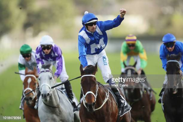 Hugh Bowman on Winx wins race 6 the Winx Stakes during Sydney Racing at Royal Randwick Racecourse on August 18 2018 in Sydney Australia