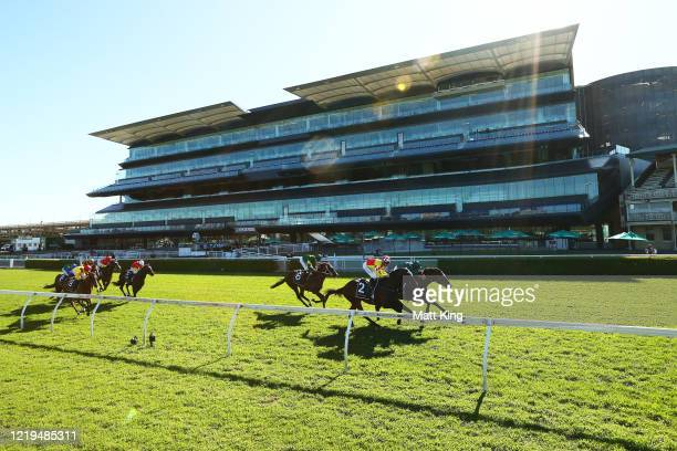 Hugh Bowman riding King's Legacy wins Race 5Moet & Chandon Champagne Stakes during Sydney Racing at Royal Randwick Racecourse on April 18, 2020 in...