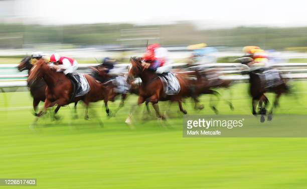 Hugh Bowman riding Opacity wins Race 6Calyx @ Coolmore Australia Handicap during Sydney Racing at Royal Randwick Racecourse on May 23, 2020 in...