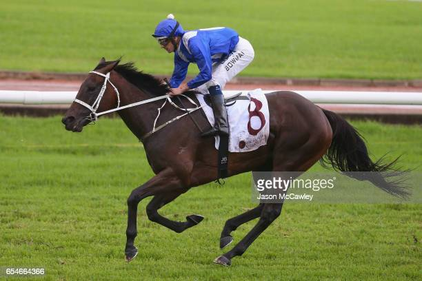 Hugh Bowman riding Winx wins Race 5 in the China Horse Club George Ryder during 2017 Golden Slipper Day at Rosehill Gardens on March 18 2017 in...