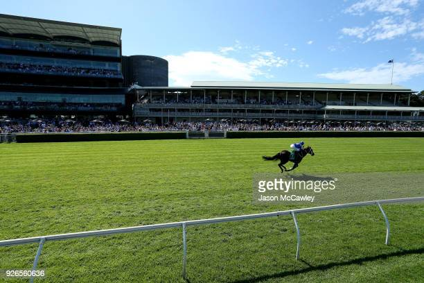 Hugh Bowman riding Winx wins Race 6 in The TAB Chipping Norton Stakes during Sydney Racing at Royal Randwick Racecourse on March 3 2018 in Sydney...