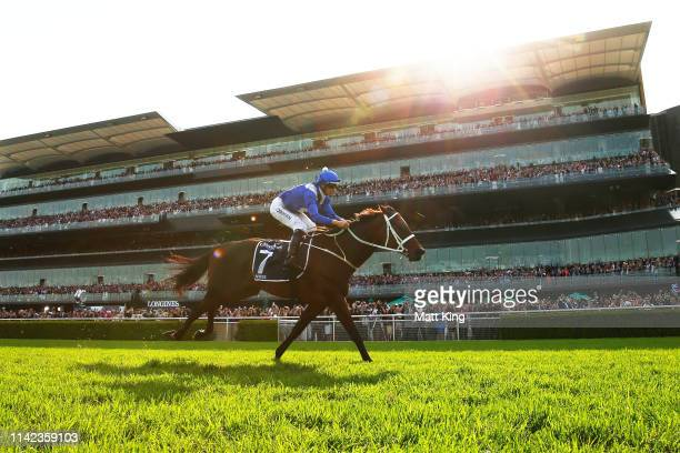 Hugh Bowman riding Winx wins race 7 the Longines Queen Elizabeth Stakes during The Championships Day 2 at Royal Randwick Racecourse on April 13, 2019...