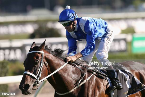 Hugh Bowman riding Winx wins Race 8 in the Apollo Stakes at Royal Randwick Racecourse on February 13 2017 in Sydney Australia