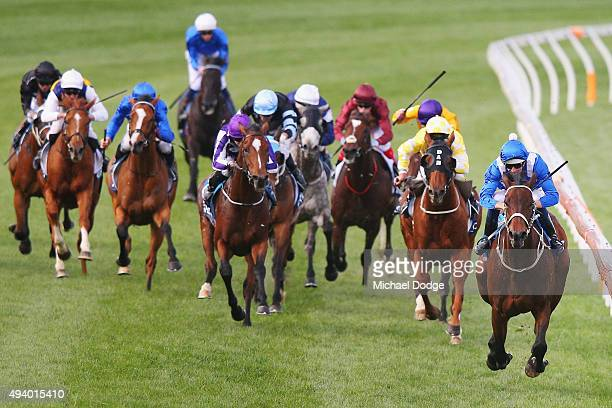 Hugh Bowman riding Winx wins race 9 The William Hill Cox plate during Cox Plate Day at Moonee Valley Racecourse on October 24 2015 in Melbourne...