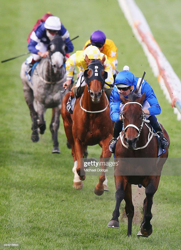 Hugh Bowman riding Winx wins race 9 The William Hill Cox Plate during Cox Plate Day at Moonee Valley Racecourse on October 24, 2015 in Melbourne, Australia.