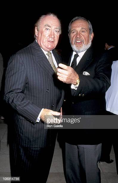 Hugh Carey and Alan King during Screening of 'The Infiltrator' at Equitable Center in New York City New York United States