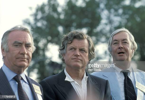 Hugh Carey Ted Kennedy and Daniel Patrick Moynihan