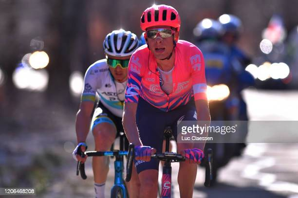 Hugh Carthy of The United Kingdom and Team EF Pro Cycling / Alexey Lutsenko of Kazakhstan and Team Astana Pro Team / during the 5th Tour de La...