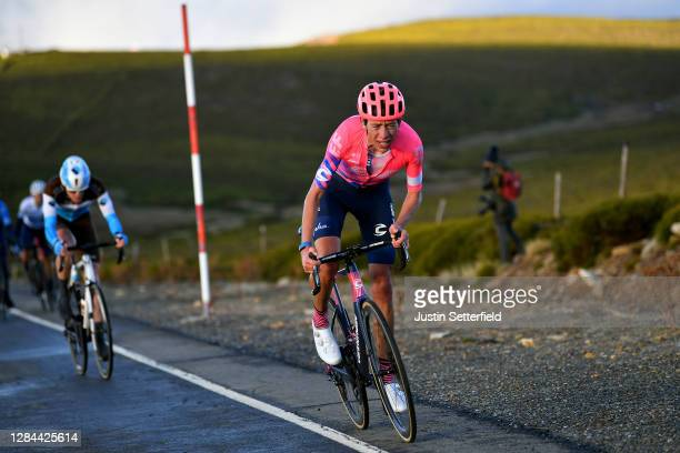 Hugh Carthy of The United Kingdom and Team EF Pro Cycling / Dorian Godon of France and Team AG2R La Mondiale / Breakaway / during the 75th Tour of...