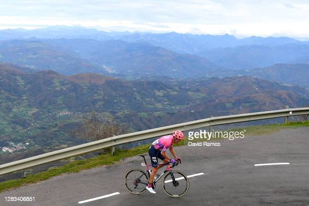 Hugh Carthy of The United Kingdom and Team EF Pro Cycling / during the 75th Tour of Spain 2020, Stage 12 a 109,4km stage from Pola de Laviana to Alto...