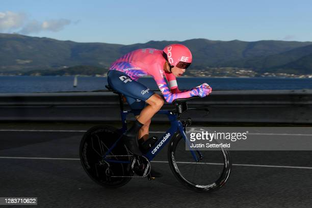 Hugh Carthy of The United Kingdom and Team EF Pro Cycling / during the 75th Tour of Spain 2020, Stage 13 a 33,7km Individual Time Trial stage from...
