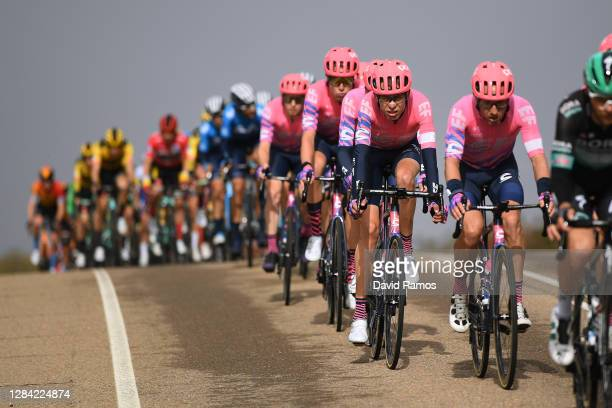 Hugh Carthy of The United Kingdom and Team EF Pro Cycling / during the 75th Tour of Spain 2020, Stage 16 a 162km stage from Salamanca to Ciudad...