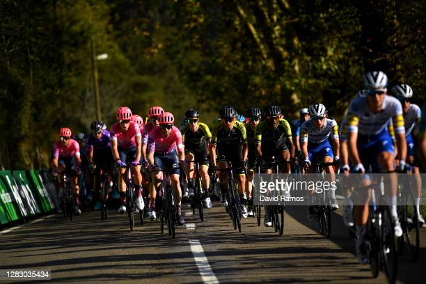 Hugh Carthy of The United Kingdom and Team EF Pro Cycling / Logan Owen of The United States and Team EF Pro Cycling / Julius Van Den Berg of The...