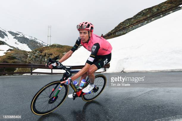Hugh Carthy of United Kingdom and Team EF Education - Nippo during the 104th Giro d'Italia 2021, Stage 20 a 164km stage from Verbania to Valle Spluga...