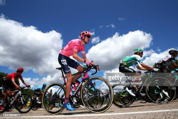 Hugh Carthy of United Kingdom and Team EF Education - Nippo during the 43rd Vuelta a Burgos 2021, Stage 5 a 146km stage from Comunero de Revenga to...