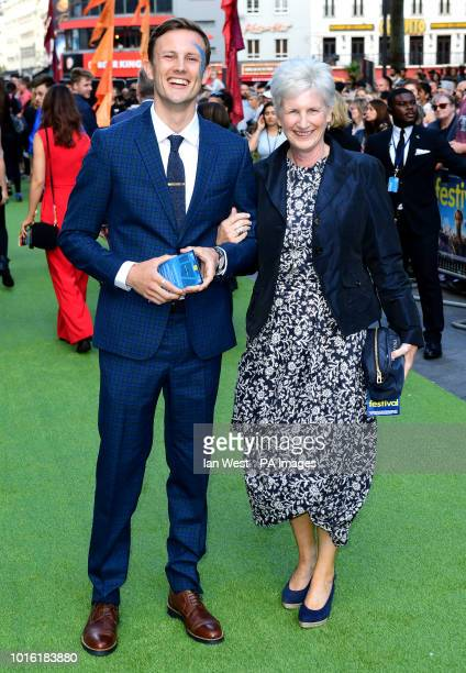 Hugh Coles and guest attending the world premiere of The Festival at the Cineworld Leicester Square London