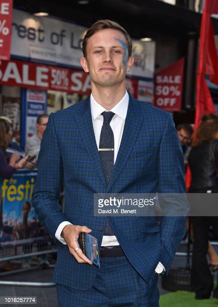 Hugh Coles attends the World Premiere of 'The Festival' at Cineworld Leicester Square on August 13 2018 in London England