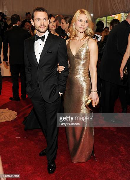 Hugh Dancy and Claire Danes attend the 'Alexander McQueen Savage Beauty' Costume Institute Gala at The Metropolitan Museum of Art on May 2 2011 in...