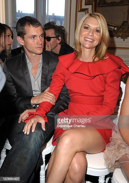 Hugh Dancy and Claire Danes attend the Valentino Fashion show as part of Paris Fashion Week Fall/Winter 2011 at Place Vendome on July 7 2010 in Paris...
