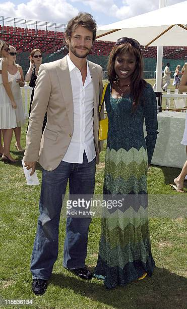 Hugh Dancy and June Sarpong at the Cartier International Polo Guards Polo Club Windsor Great Park on 30th July 2006