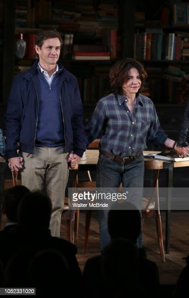 Hugh Dancy and Stockard Channing during the Opening Night Curtain Call Bows for the Roundabout Theatre Company production of 'Apologia' on October 16...