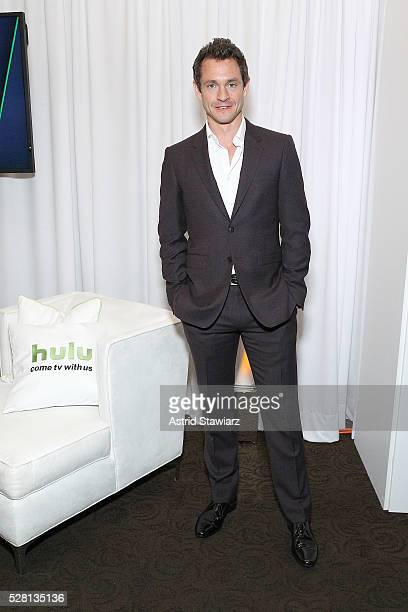 Hugh Dancy attends the 2016 Hulu Upftont Green Room on May 04 2016 in New York New York