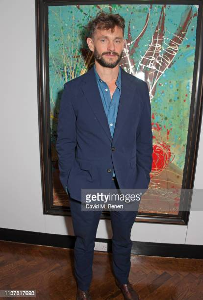 Hugh Dancy attends the press night after party for Sweet Charity at The h Club on April 17 2019 in London England