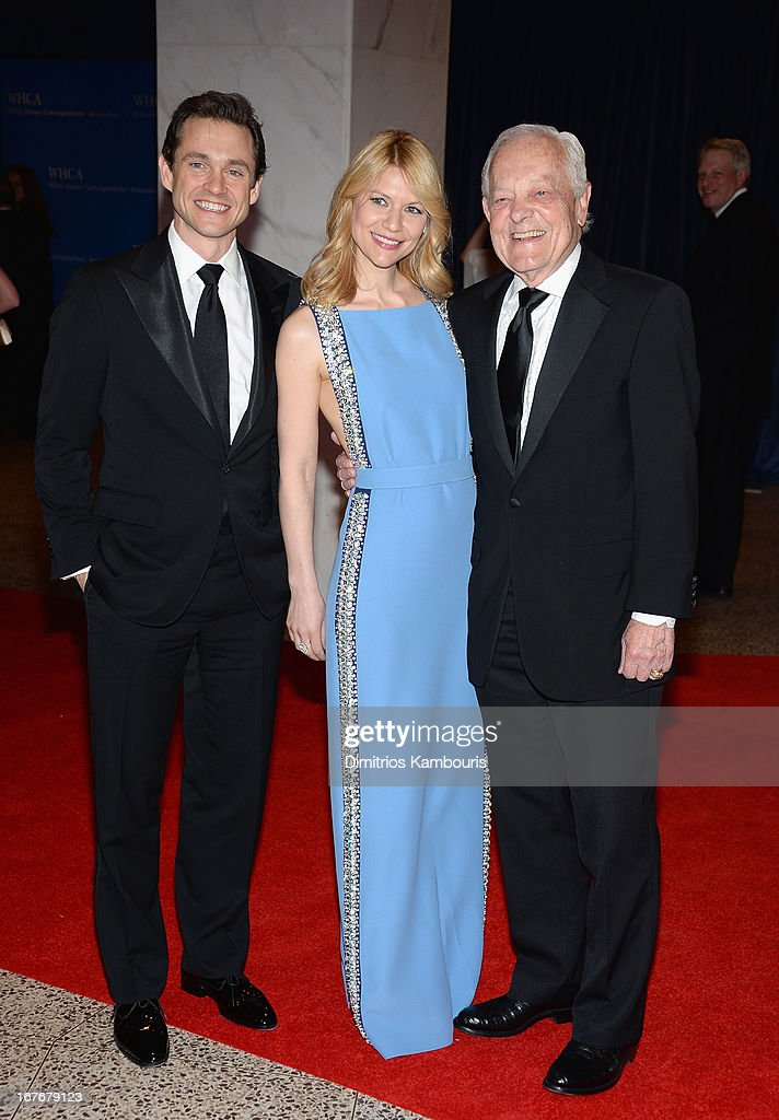 Hugh Dancy, Claire Danes and Bob Schieffer attend the White House Correspondents' Association Dinner at the Washington Hilton on April 27, 2013 in Washington, DC.