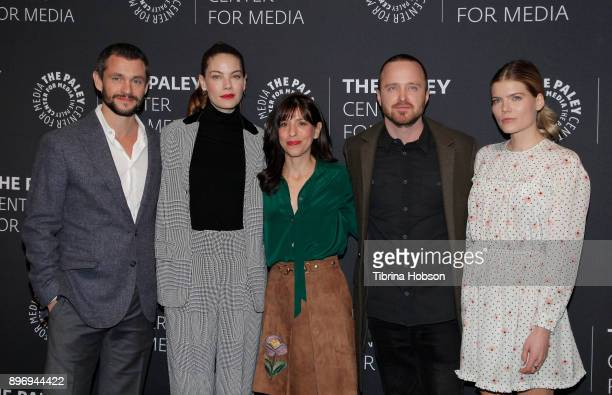 Hugh Dancy Michelle Monaghan Jessica Goldberg Aaron Paul and Emma Greenwell attend the Paley Center For Media's presentation of Hulu's 'The Path'...