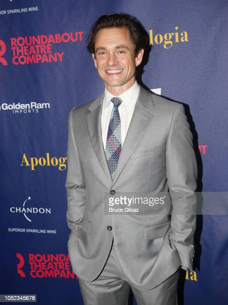Hugh Dancy poses at the opening night after party for the Roundabout Theater Company play 'Apologia' at Remi on October 16 2018 in New York City