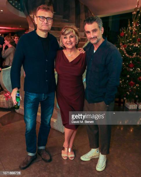 Hugh Dennis Lesley Garrett and John Marquez attend the press night performance of The Messiah at The Other Palace on December 11 2018 in London...