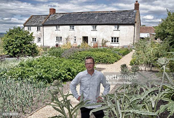 Hugh FearnleyWhittingstall stands in the vegetable garden of River Cottage HQ following a visit by Prince Charles Prince of Wales and Camilla Duchess...