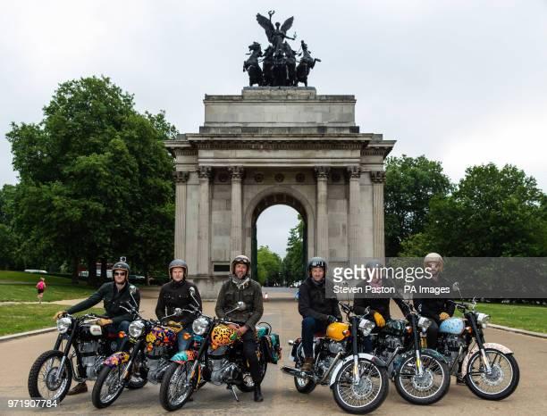 Hugh Francis Anderson riding the Krazy Horse bike Jeremy Taylor riding the Dan Baldwin bike Sam Pelly riding the Boyarde bike Michael Mann riding the...