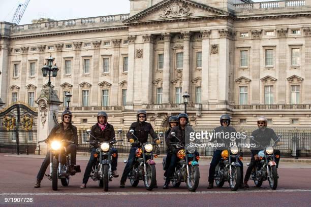 Hugh Francis Anderson riding the Krazy Horse bike Simon de Burton riding the House of Hackney bike Jeremy Taylor riding the Dan Baldwin bike Oli...
