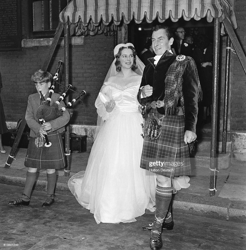 Hugh Fraser MP, In Full Highland Dress, Marries Lady